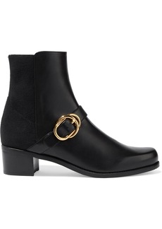 Stuart Weitzman Woman Suzanne Buckled Leather Ankle Boots Black