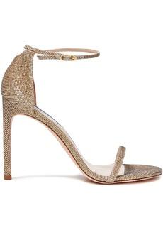 Stuart Weitzman Woman Textured-lamé Sandals Platinum