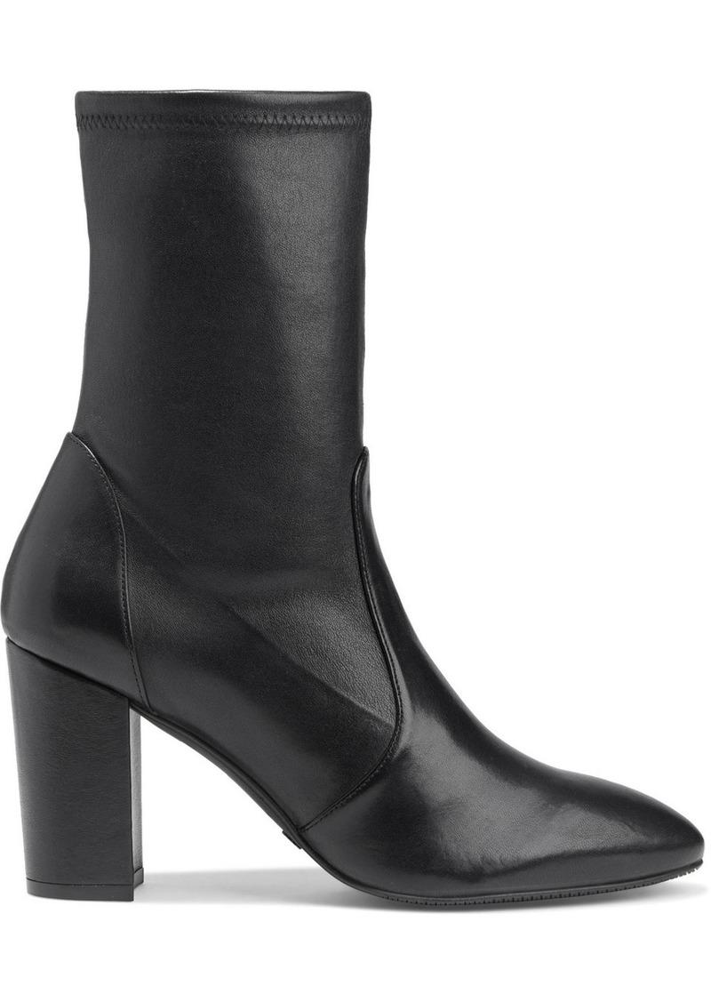 Stuart Weitzman Woman Yuliana Stretch-leather Sock Boots Black