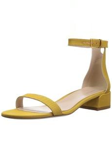 Stuart Weitzman Women's 35LESSNU Sandal Ochre MOARE 8 Medium US