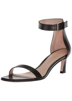 Stuart Weitzman Women's 45SQUARE Heeled Sandal  10 Medium US
