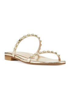 Stuart Weitzman Women's Ameliese Synthetic Pearl Slide Sandals