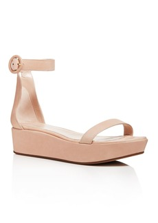 Stuart Weitzman Women's Capri Leather Platform Ankle Strap Sandals