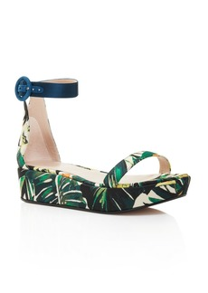 Stuart Weitzman Women's Capri Printed Jacquard Platform Ankle Strap Sandals - 100% Exclusive