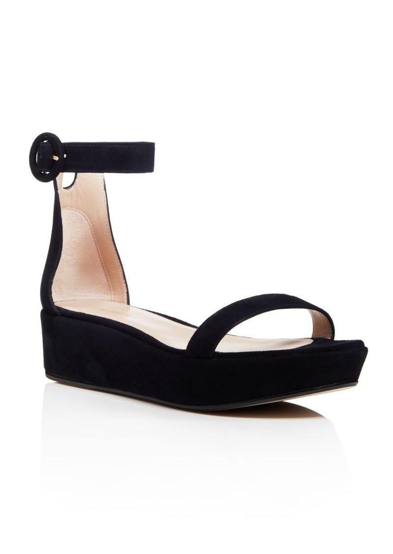 b6ad2e80b49d Stuart Weitzman Women s Capri Suede Platform Ankle Strap Sandals - 100%  Exclusive