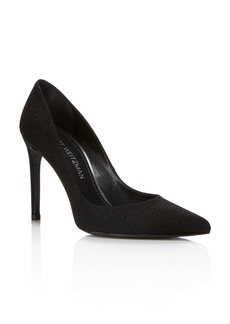 Stuart Weitzman Women's Curvia Textured High-Heel Pumps