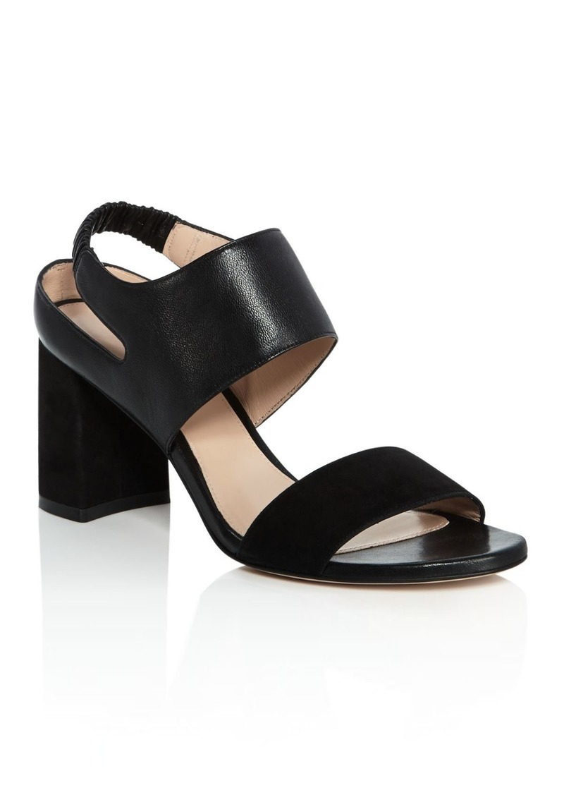 Stuart Weitzman Women's Erica Suede & Leather Block Heel Sandals