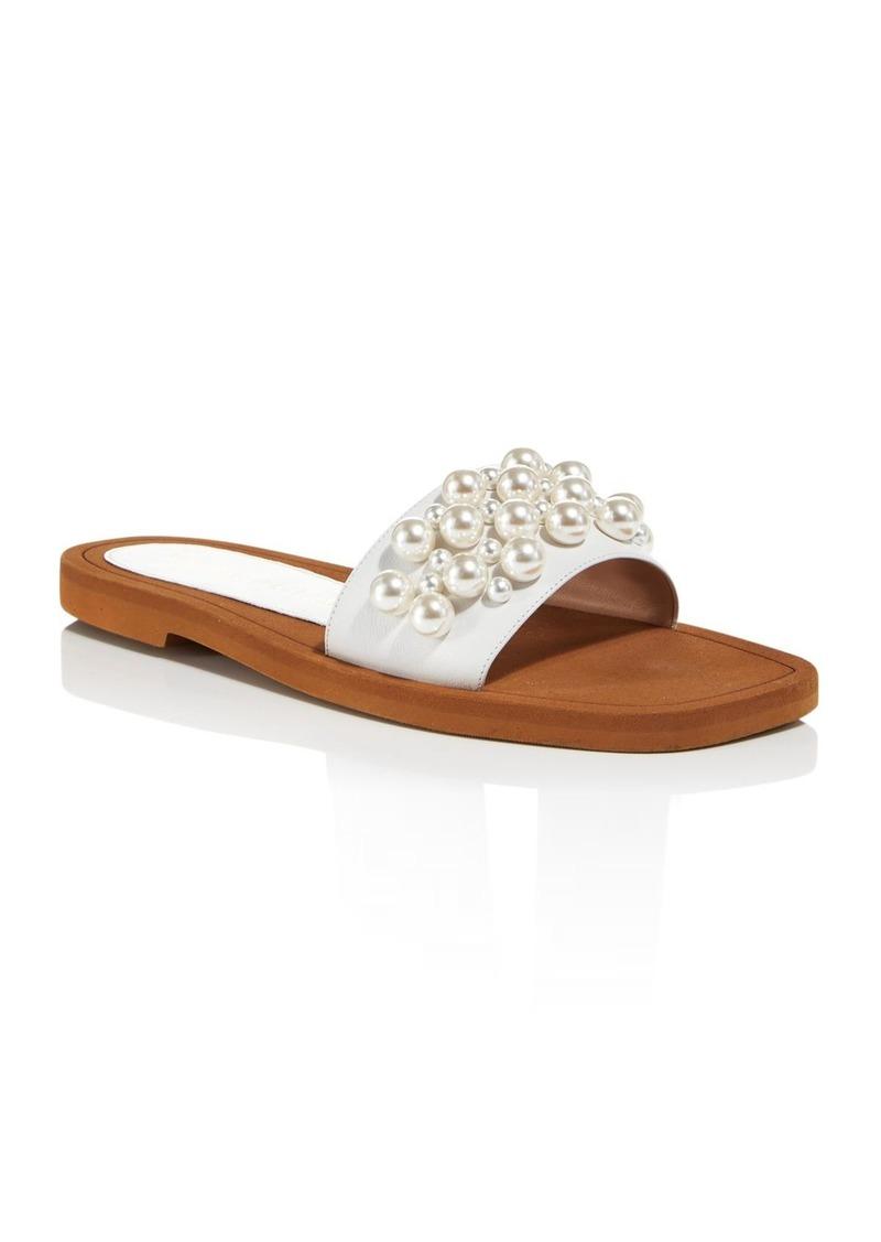 Stuart Weitzman Women's Goldie Embellished Slide Sandals