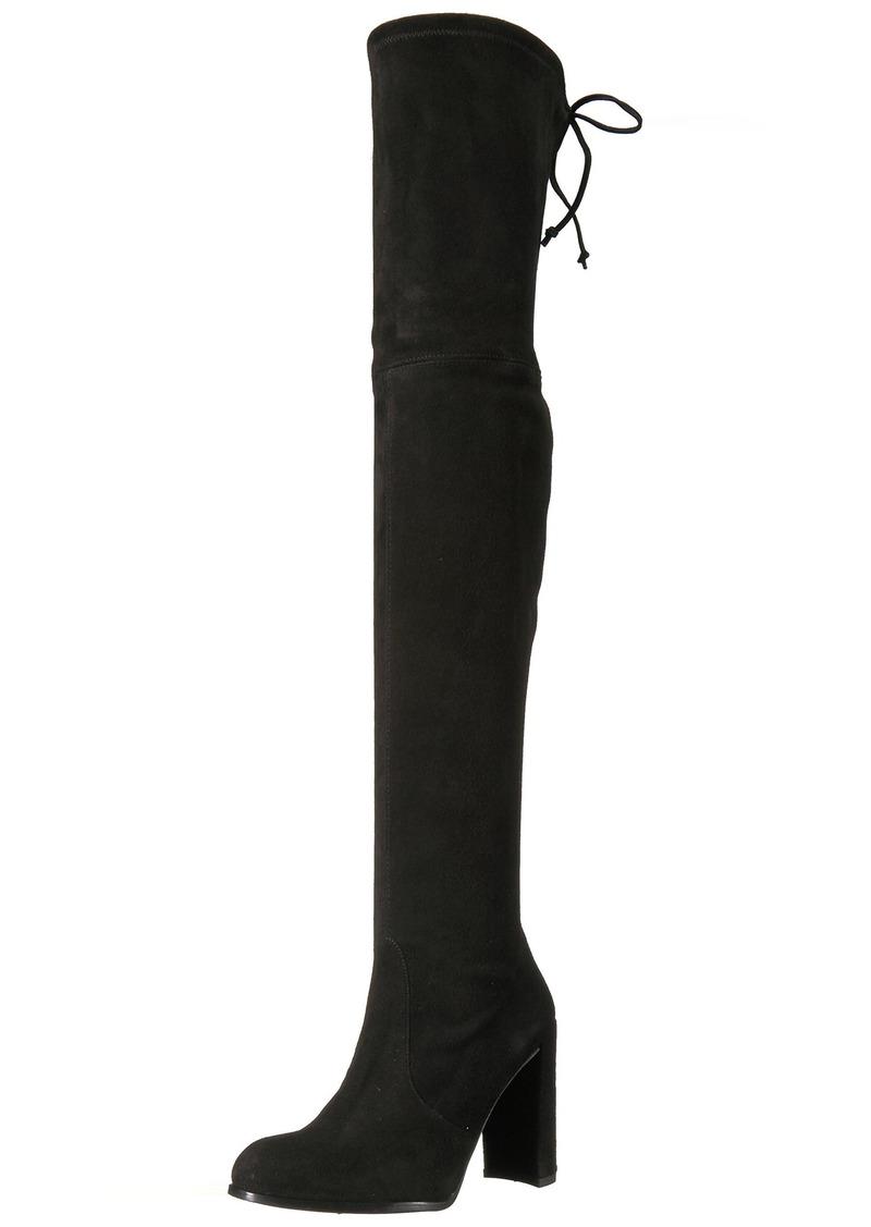 Stuart Weitzman women's HILINE Over the Knee Boot black suede  Medium US