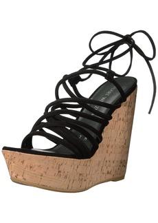 Stuart Weitzman Women's Histrung Wedge Sandal   M US