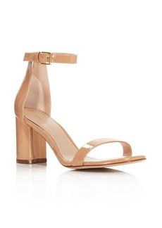 Stuart Weitzman Women's Lessnudist Block Heel Sandals