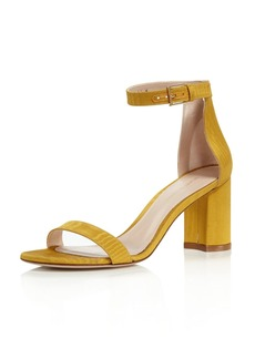 Stuart Weitzman Women's Lessnudist Grosgrain Ankle Strap Sandals