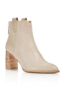 Stuart Weitzman Women's Novako Leather Block Heel Booties