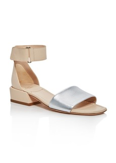 Stuart Weitzman Women's Oneway Leather Color-Block Sandals