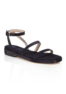 Stuart Weitzman Women's Quinn Satin Ankle Strap Sandals