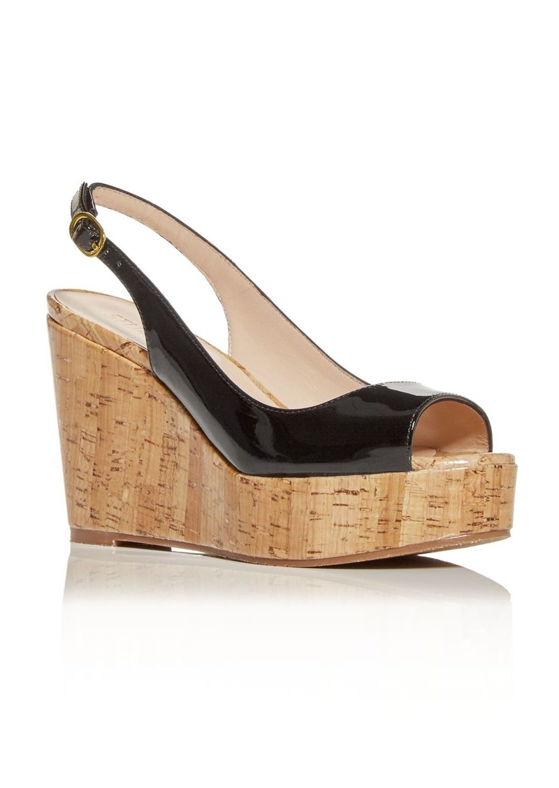 Stuart Weitzman Women's Riviera Slingback Wedge Platform Sandals