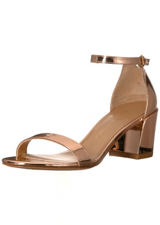 Stuart Weitzman Women's Simple Heeled Sandal  7 Medium US