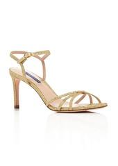 Stuart Weitzman Women's Starla 80 Metallic High-Heel Sandals