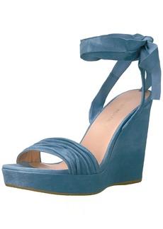 Stuart Weitzman Women's Swiftsong Wedge Sandal  M US jeans