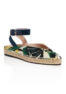 Stuart Weitzman Women's Toga Printed Espadrille Ankle Strap Flats