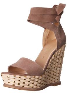 Stuart Weitzman Women's Wrapsie Wedge Sandal