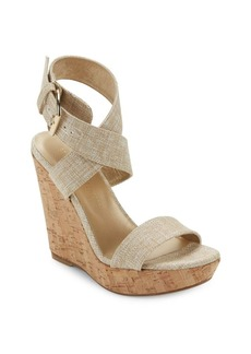 Stuart Weitzman X-Ray Wedge Sandals