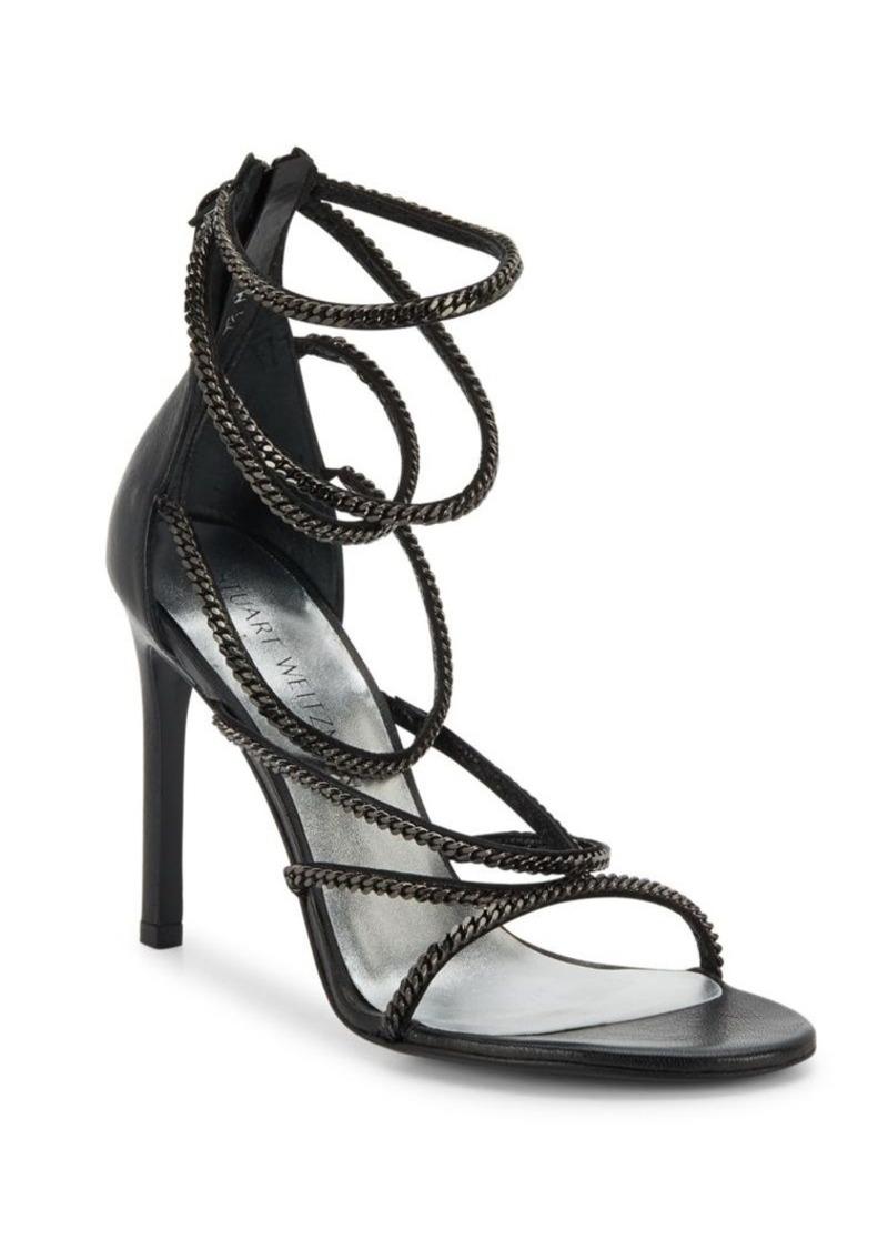 Stuart Weitzman XChain Leather Evening Sandals