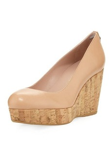 Stuart Weitzman York High Cork-Wedge Pump