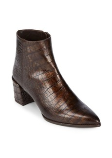 Stuart Weitzman Zepher Crocodile Booties