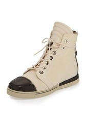 Stuart Weitzman Zipit Leather High-Top Sneaker