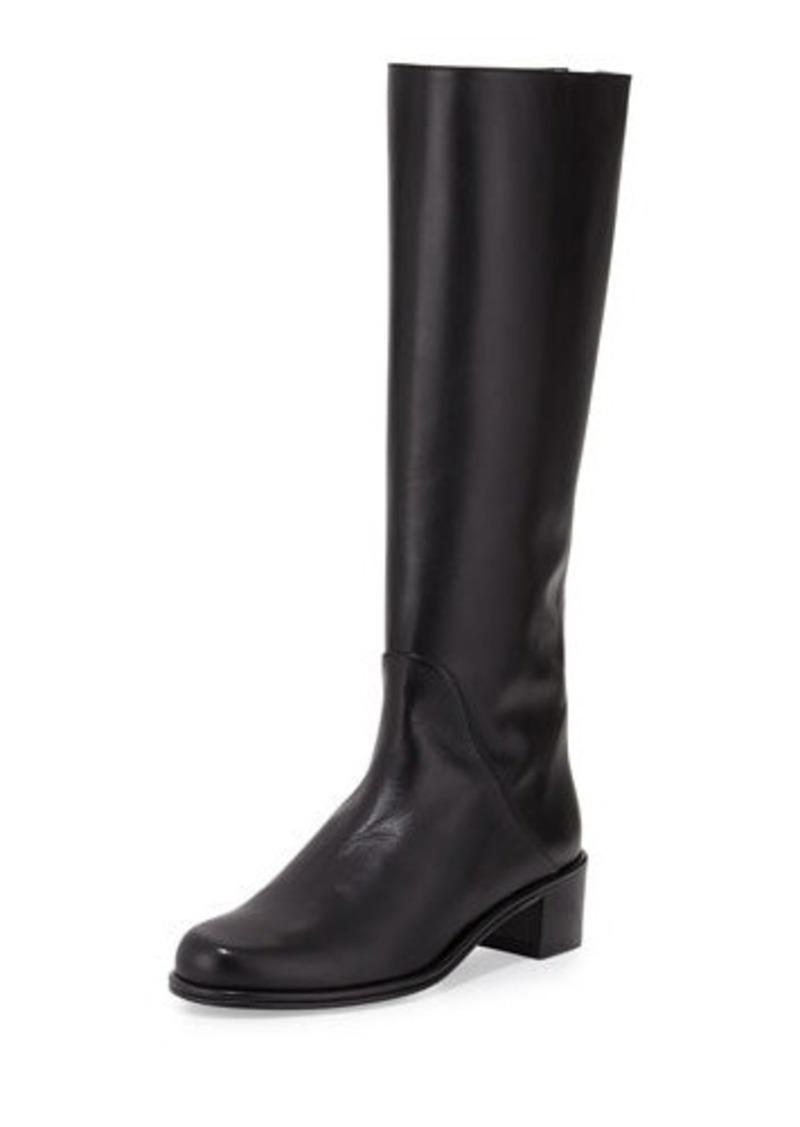 stuart weitzman stuart weitzman zippy leather knee boot shoes shop it to me. Black Bedroom Furniture Sets. Home Design Ideas