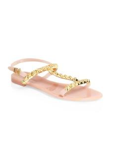 Stuart Weitzman Studded Jelly Flat Sandals