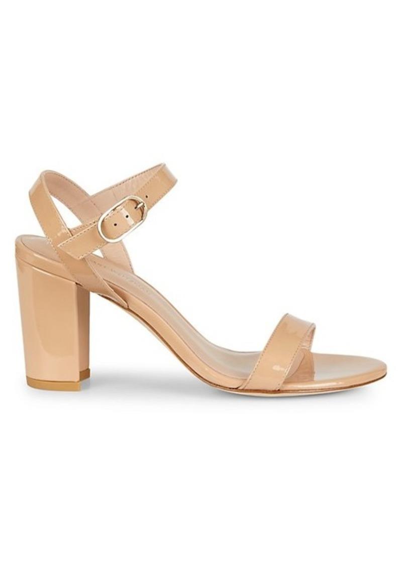 Stuart Weitzman Taliana Leather Block-Heel Sandals