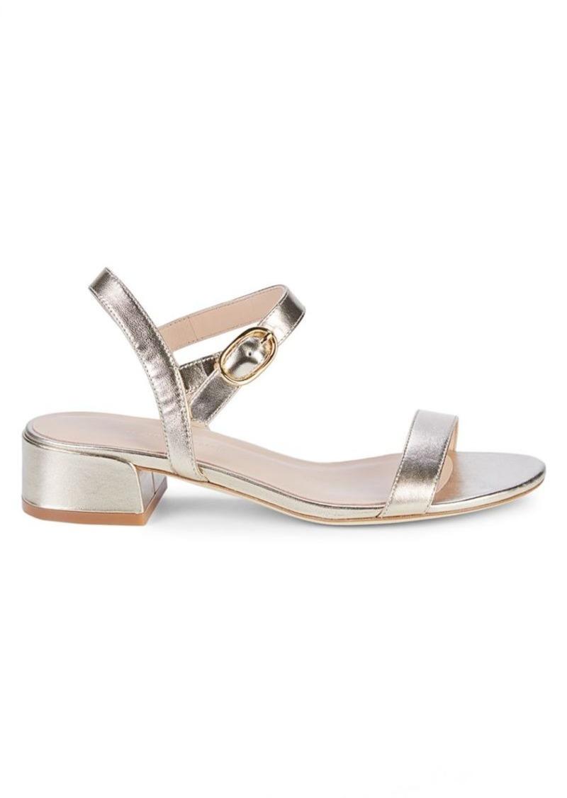 Stuart Weitzman Tibby Metallic Leather Sandals