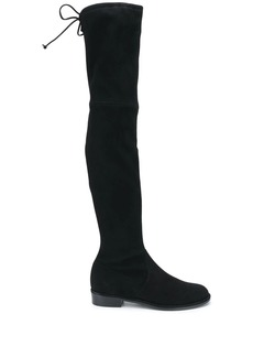 Stuart Weitzman tie-fastened thigh high boots