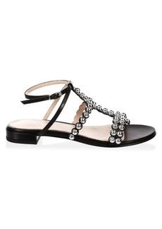 Stuart Weitzman Tini Leather Sandals
