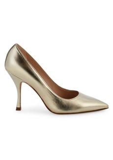 Stuart Weitzman Tippi Metallic Leather Pumps