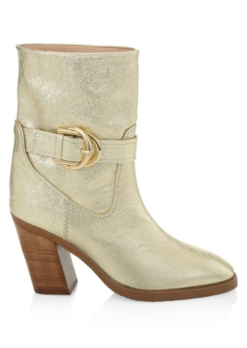 Stuart Weitzman Virgo Metallic Leather Booties