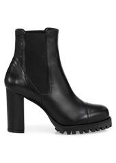 Stuart Weitzman Wenda Lug-Sole Leather Chelsea Boots