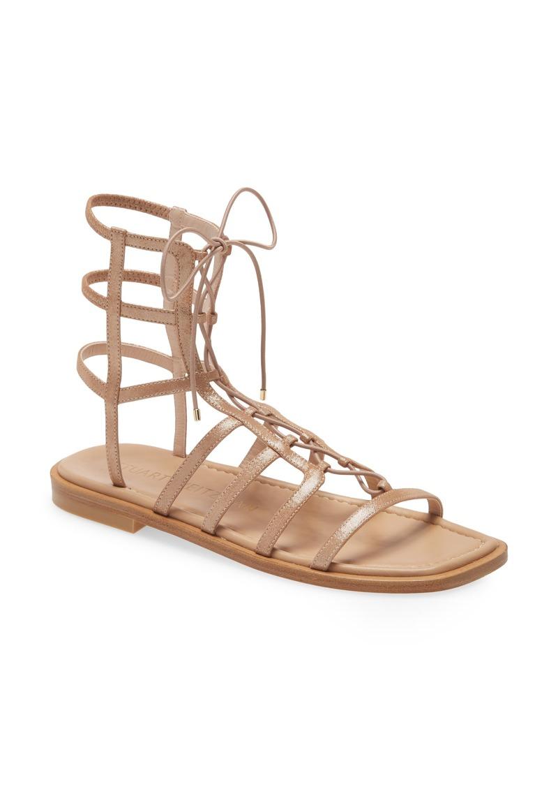 Women's Stuart Weirzman Kora Lace-Up Gladiator Sandal