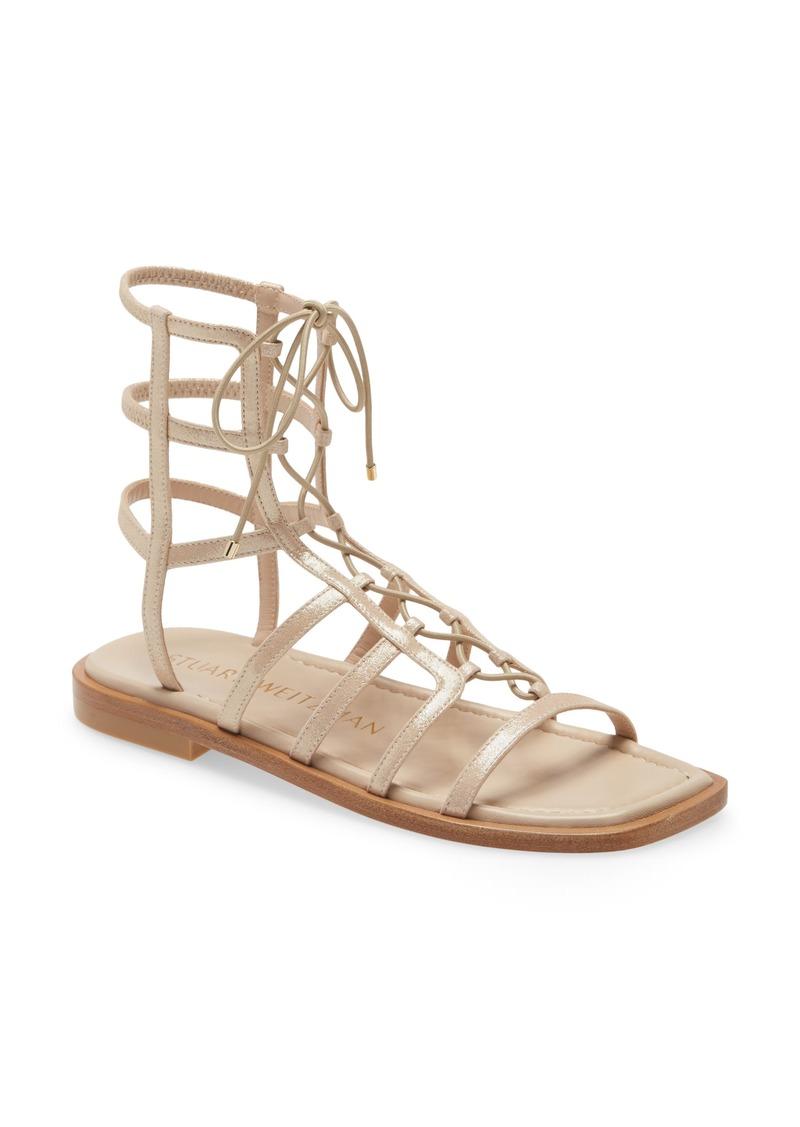 Stuart Weitzman Women's Stuart Weirzman Kora Lace-Up Gladiator Sandal