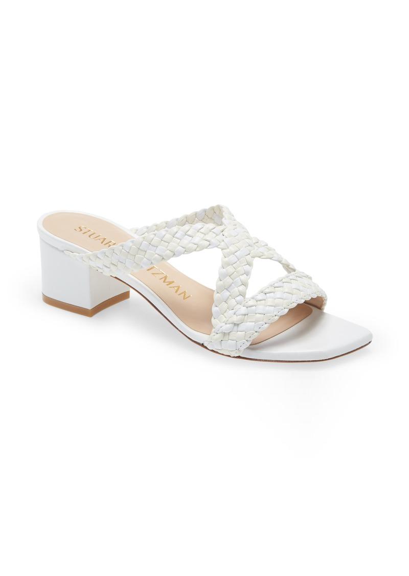 Stuart Weitzman Rosie Block Heel Slide Sandal