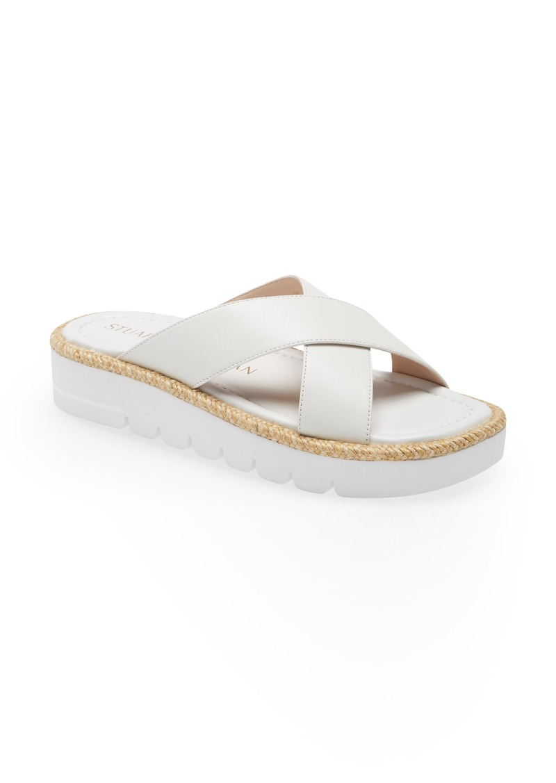 Stuart Weitzman Roza Lift Slide Sandal