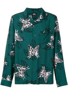 Stussy butterfly print shirt