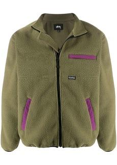Stussy colour block fleece jacket