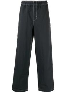 Stussy embroidered-logo elasticised-waist trousers