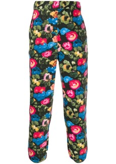 Stussy floral print fleece trousers