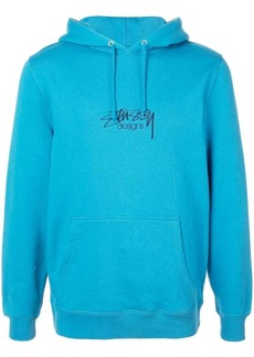 Stussy logo embroidered hoodie
