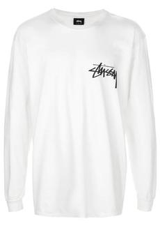 Stussy longlseeve logo print top