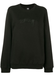 Stussy oversized embroidered logo sweatshirt